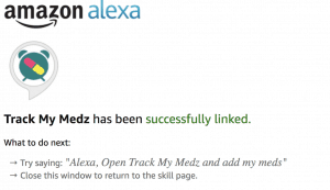 TrackMyMedz Alexa Skill Ready to use